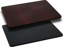 30'' x 60'' Rectangular Table Top with Black or Mahogany Reversible Laminate Top
