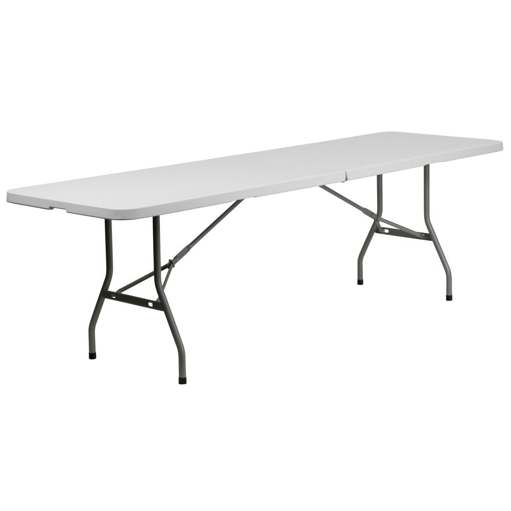 Flash Furniture RB-3096FH-GG 30''W x 96''L Plastic Bi-Folding Folding Table