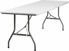 "Flash Furniture RB-3096-GG 30""W x 96""L Granite White Plastic Folding Table"