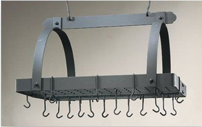 "Old Dutch International 101GU Graphite Pot Rack with Grid, 24 Hooks, 30"" x 20 1/2"" x 15 3/4"""