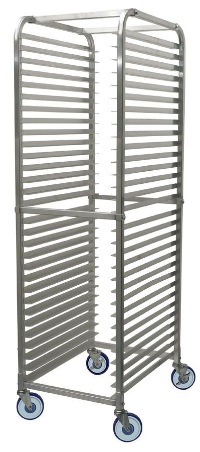Winco alrk-30bk 30-Tier Aluminum Sheet Pan Rack with Brake