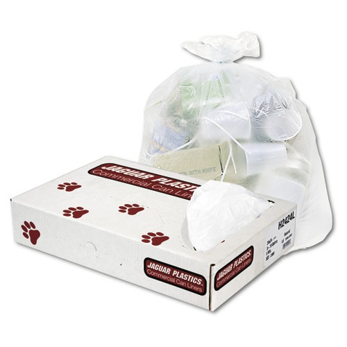 30 X 37 High-Density Garbage Can Liner Folded, 13 Mic, Natural Color
