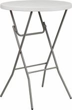 Flash Furniture RB-32RB-BAR-GW-GG 32'' Round Granite White Plastic Bar Height Folding Table