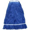 Winco MOP-32 Premium Blue Yarn Mop Head, Looped End 800g, 32 oz.