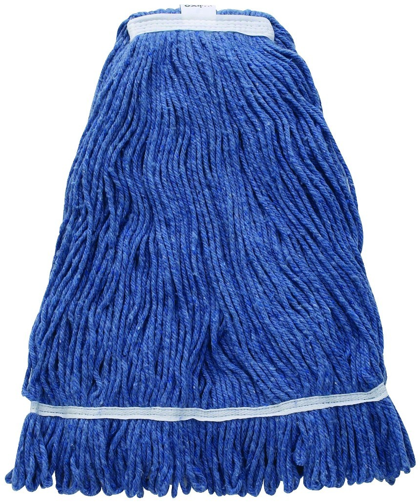 Premium Blue Yarn Mop Head, Looped End  800g, 32 oz.