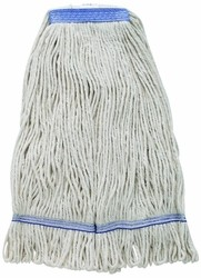 Winco MOPH-32W Premium White Yarn Mop Head, Looped End 800g. 32 oz.