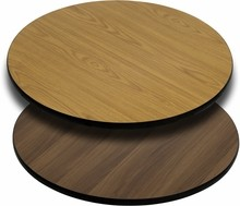 Flash Furniture XU-RD-36-WNT-GG 36'' Round Table Top with Natural or Walnut Reversible Laminate Top