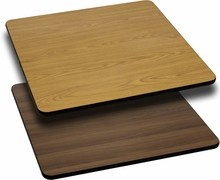 Flash Furniture XU-WNT-3636-GG 36'' Square Table Top with Natural or Walnut Reversible Laminate Top