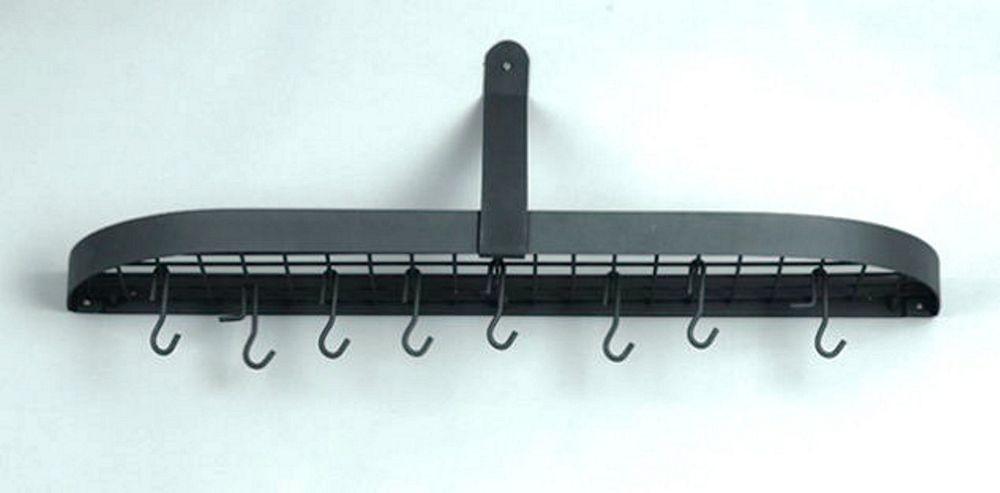 "Old Dutch International 121GU Graphite Wall Pot Rack with 12 Hooks, 36"" x 9"" x 10 3/4"""