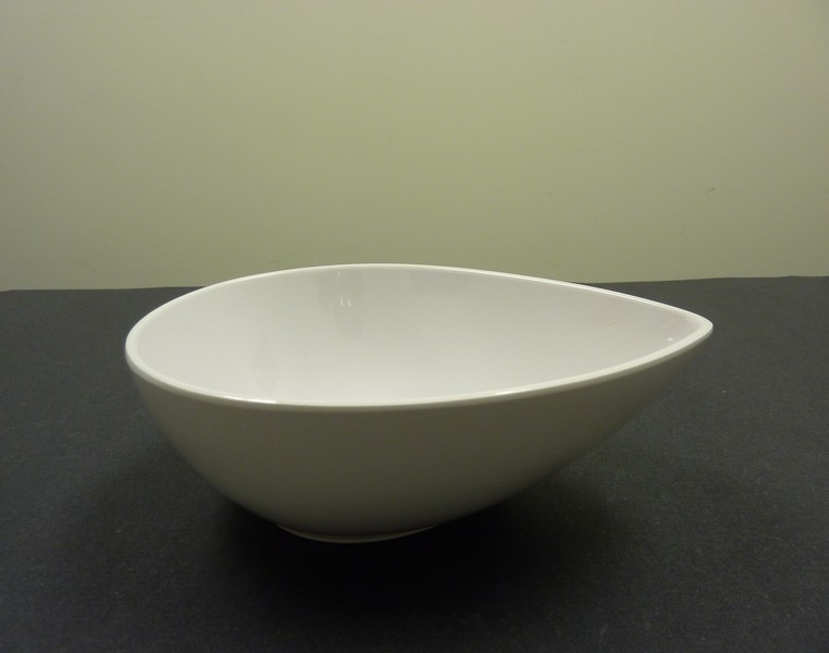 """Yanco rm-704 Rome 4"""" Tear Drop Shape White Melamine Dish 4 oz."""