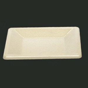 "Thunder Group PS3204V Passion Pearl Melamine Square Plate 4"" x 4"""