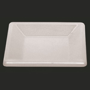 "Thunder Group PS3204W Passion White Melamine Square Plate 4"" x 4"""