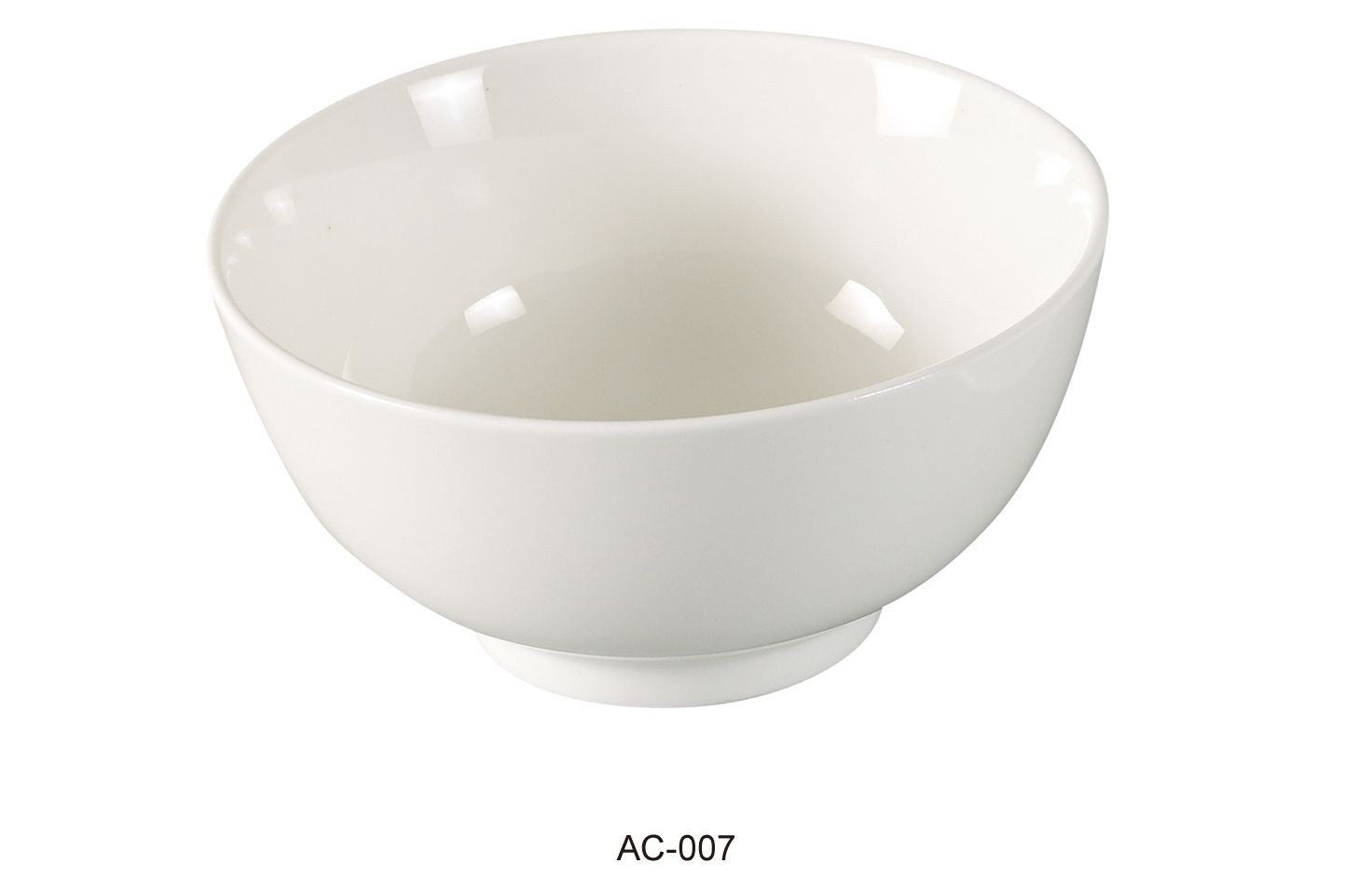 "Yanco AC-007 Abco 4 1/2"" Rice Bowl 8.5 oz."