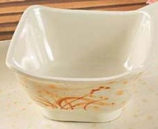"Yanco OR-5450 Gold Orchis 4 3/4"" Square Bowl"