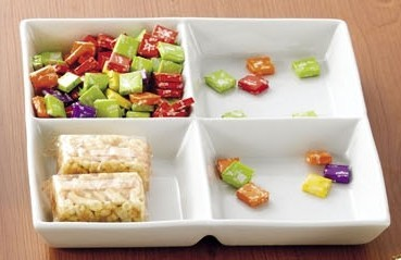 CAC China CMP-D12 Square 4-Compartment Tray 12""