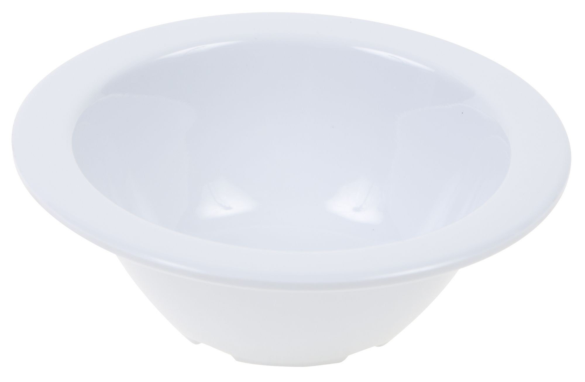 Winco MMB-4W White Melamine Fruit Bowl, 4 oz.
