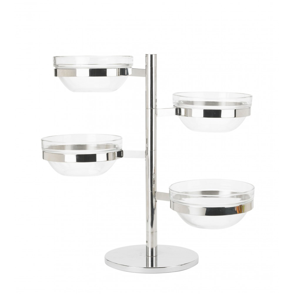 Winco tdsf-4 4 Tier Swing Arm Glass Bowl Display Set
