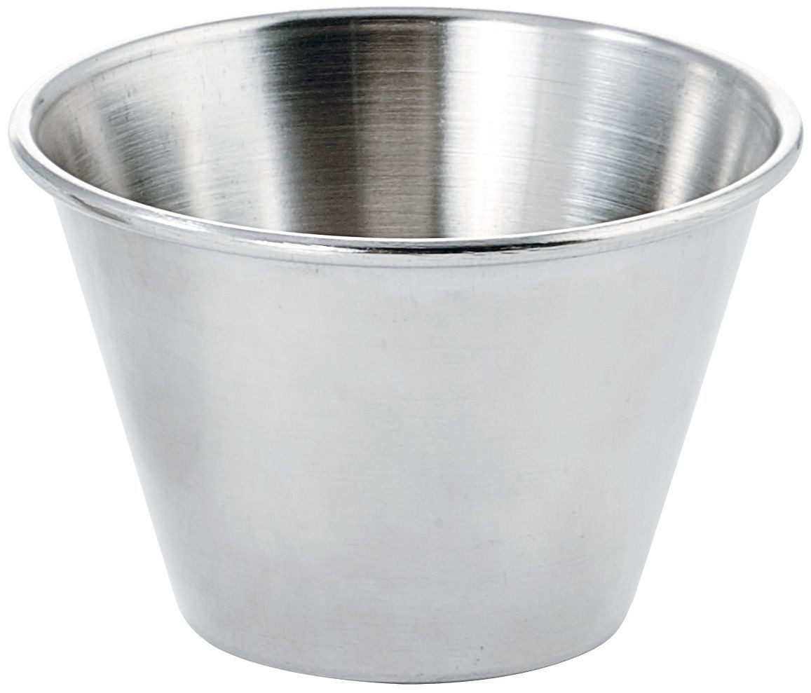 Winco SCP-40 Stainless Steel Round 4 oz. Sauce Cup