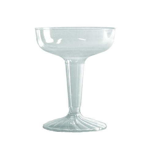 4 oz Clear Plastic Champagne Flutes