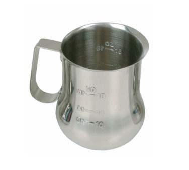 Thunder Group SLMP0040 Espresso Milk Pitcher with Measuring Scale 40 oz.