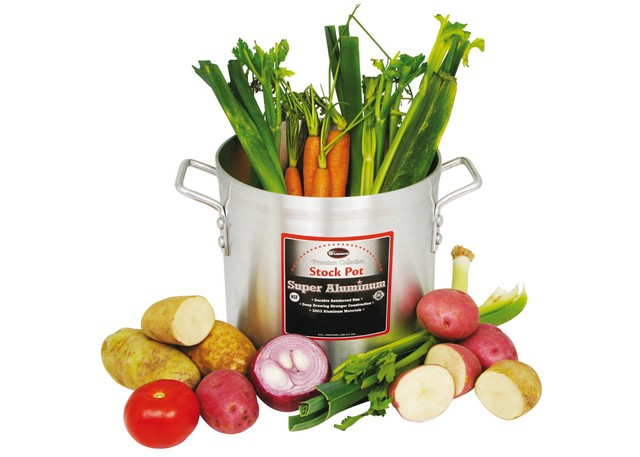 40Qt Super Aluminum Stock Pot (4.0Mm / 3003) NSF