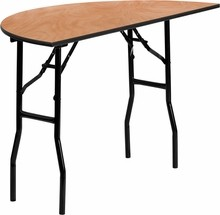 Flash Furniture YT-WHRFT48-HF-GG 48'' Half-Round Wood Folding Banquet Table