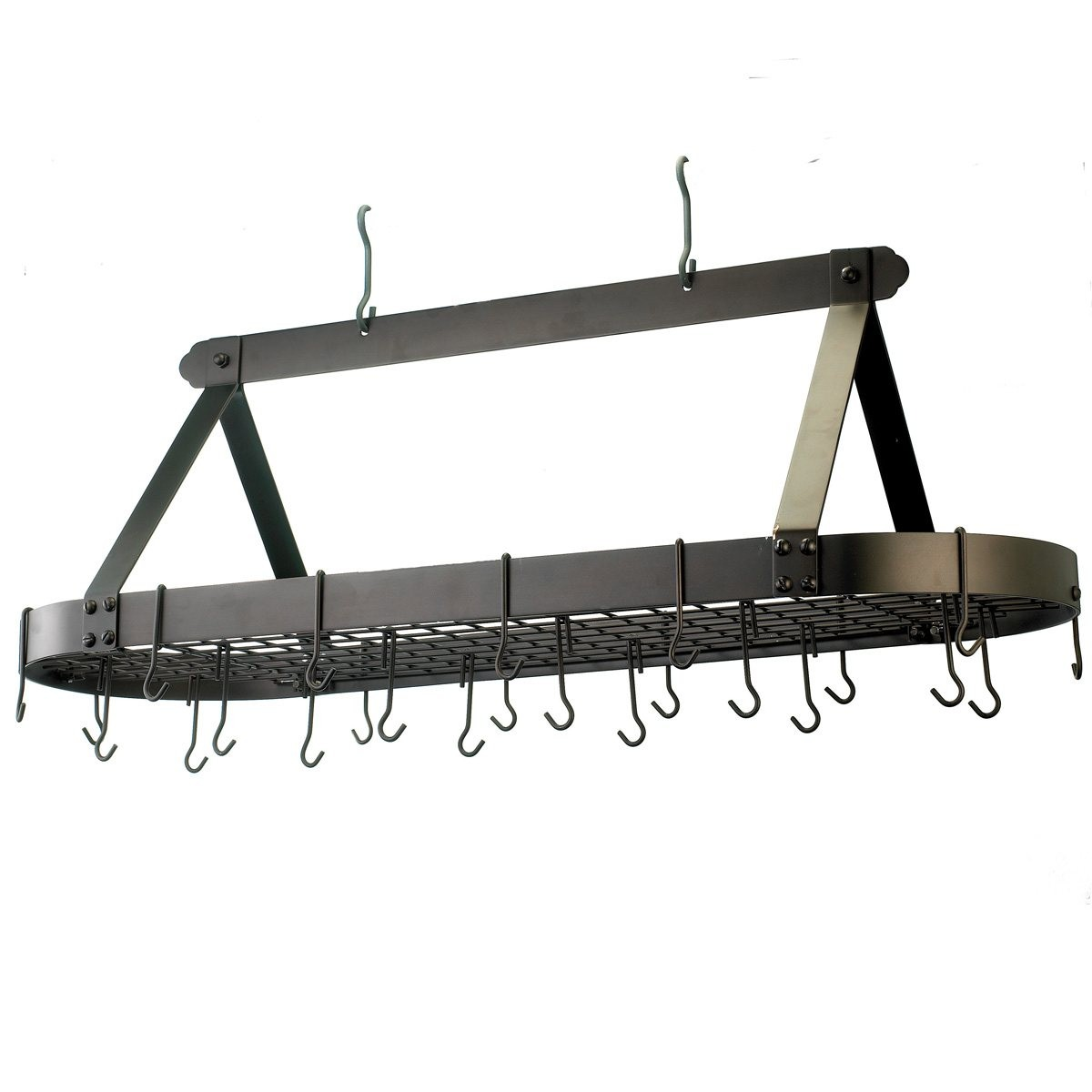 "Old Dutch International 109BZ Oval Oiled Bronze Pot Rack, 24 Hooks, 48"" x 19"" x 15 1/2"""