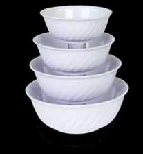 Thunder Group 5308TW Imperial Melamine Swirl Bowl, 48 oz.