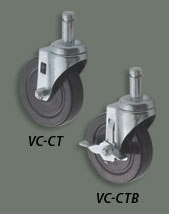 Winco vc-ct Casters for Wire Shelves 5""