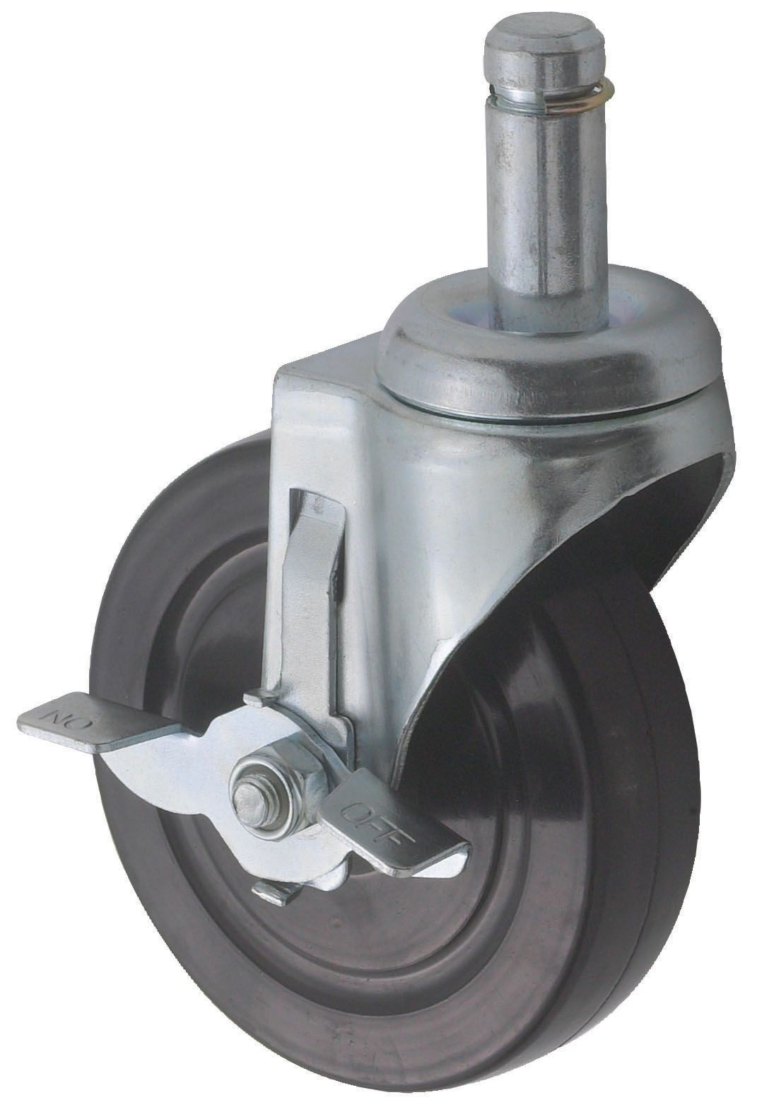 """Winco VC-CTB Casters with Brake for Wire Shelves 5"""""""