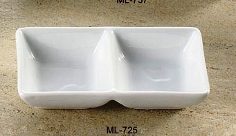 "Yanco ML-725 Mainland 5 1/2"" x 2 3/4"" x 1 3/8"" Two Divided Tray"