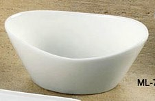 "Yanco ML-705 Mainland 5 1/2"" x 3 1/4"" x 2"" Oval Fruit Bowl 6.5 oz."