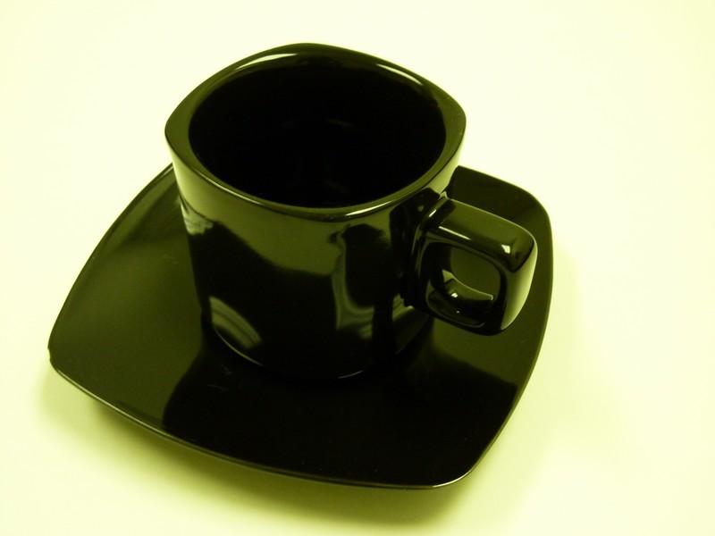 """Yanco CA-002BK Carnival Black 5 1/2""""Saucer"""