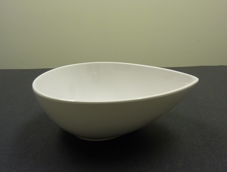 "Yanco RM-706 Rome 5 3/4"" Tear Drop Shape White Melamine Dish 10 oz."