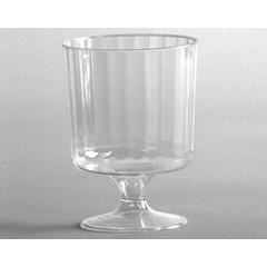 5 Oz Plastic Wine Glass- Classic Crystal