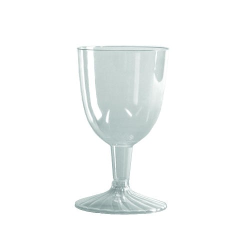 5 oz Clear Plastic Wine Glasses