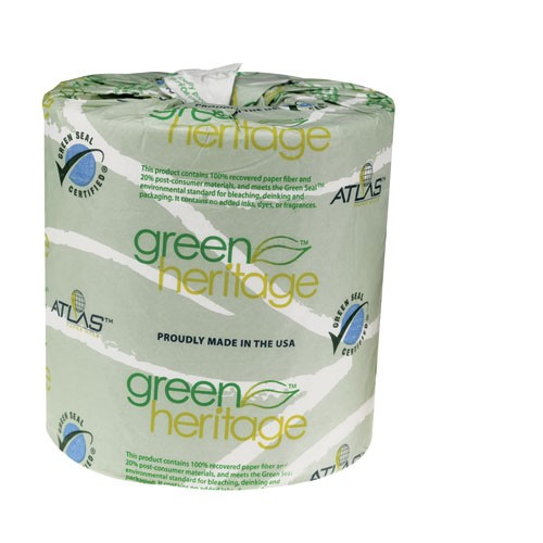 Green Heritage Bathroom Tissue, 2-Ply, 500 Sheets/Roll, 48 Rolls/Case