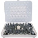 Winco CDT-52 52-Piece Stainless Steel Decorating Tip Set