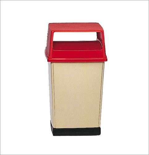 56 Gallon Trash Container, White
