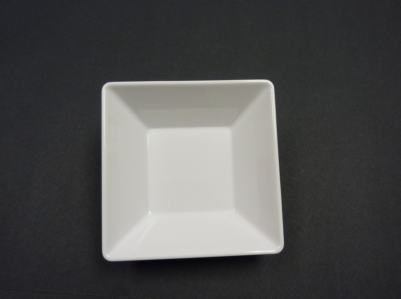 "Yanco RM-306 Rome 6"" x 1 3/4"" Square White Melamine Bowl 14 oz."