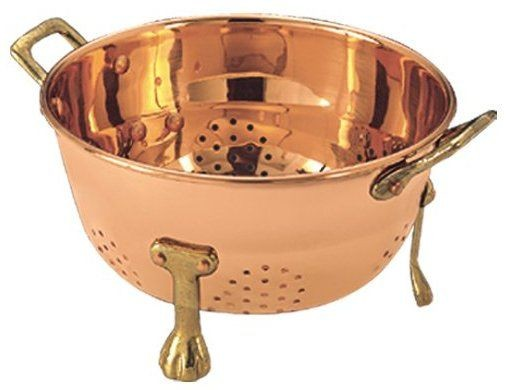 "Old Dutch 870 Decor Copper Berry 6"" Colander"