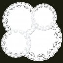 "Royal Industries RPP LD 6 6"" Lace Paper Doilies"