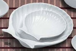 Yanco SD-6 Accessories Shell Shaped Dish 6""