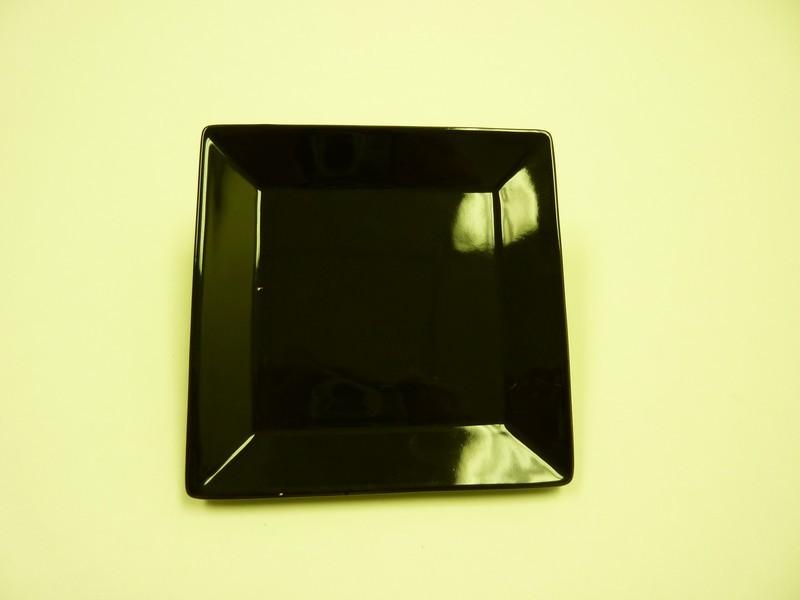 """Yanco CA-106BK Carnival Black 6"""" Square Plate"""