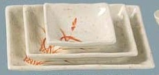"""Yanco OR-2406 Gold Orchis 6"""" Square Plate"""