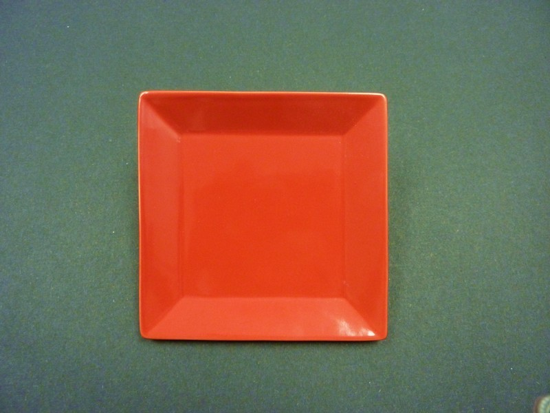 """Yanco CA-106RD Carnival Red 6"""" Square Plate"""