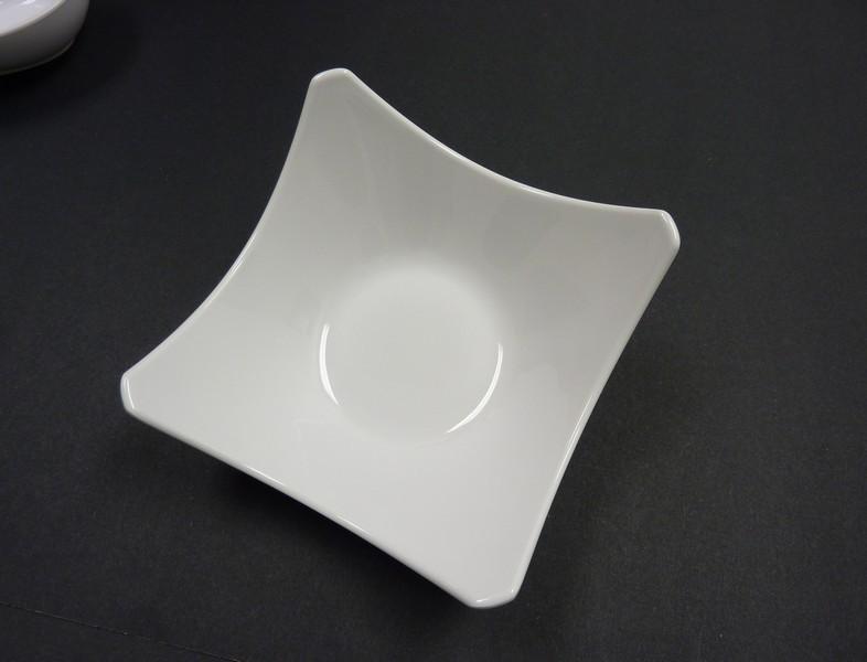 """Yanco RM-506 Rome 6 1/4"""" White Melamine Salad Bowl 12 oz."""