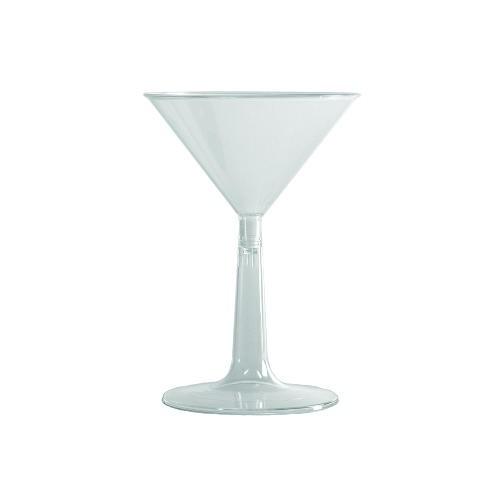6 OZ Clear Plastic Martini Glasses