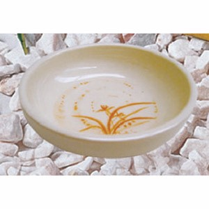 Thunder Group 1904GD Gold Orchid Melamine Flat Bowl 6 oz.