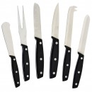 Winco KCS-6 6-Piece Cheese Knife Set with Bakelite Handle